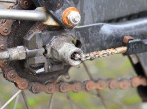 nabenschaltung gazelle fahrrad rostige kette