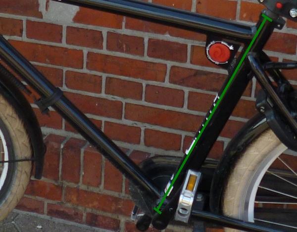 Fahrradrahmen mit Markierung