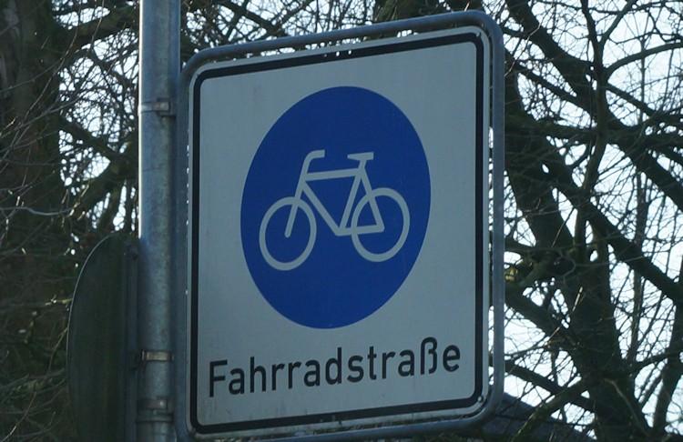 Schild einer Fahrradstraße