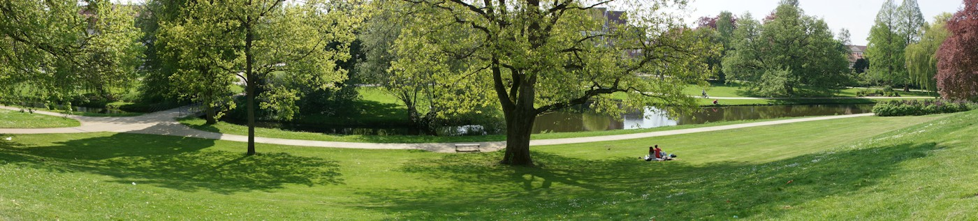 Panoramabild vom Schlospark Celle