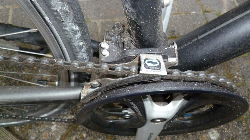 Festgesetzte Fahrradschaltung Kettenschaltung