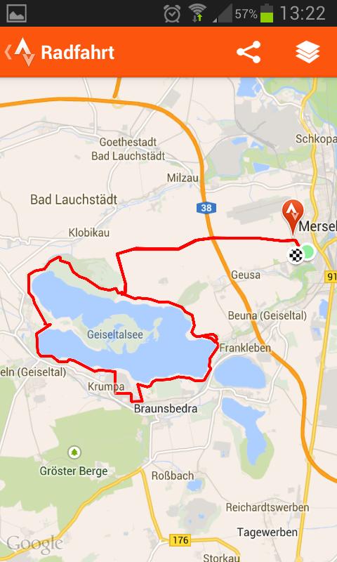Fahrrad Karte.Fahrradtour Am Geiseltalsee Und In Merseburg
