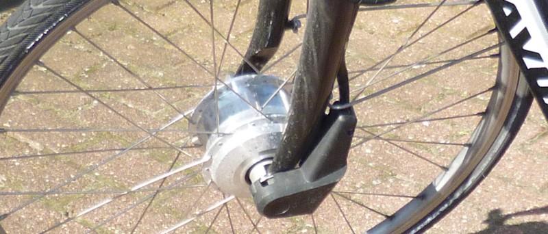 Nabenmotor im Vorderrad am Elektrofahrrad