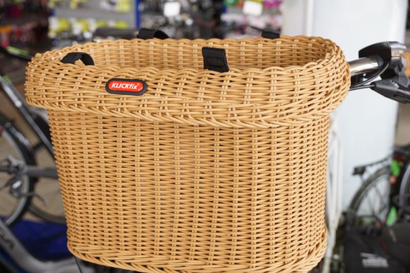 Fahrradkorb für Hunde Rattan Weide von Klickfix