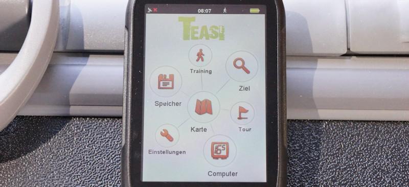 Touchscreen Bedienung Menue Navi