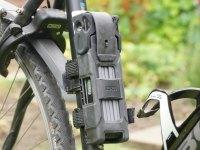 Abus Bordo - Faltschloss am Fahrradrahmen montiert