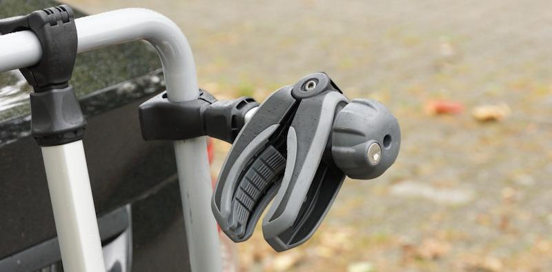 Halteklemme beim Thule Fahrradträger