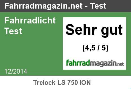 Testergebnis Trelock LS 750 ION Test