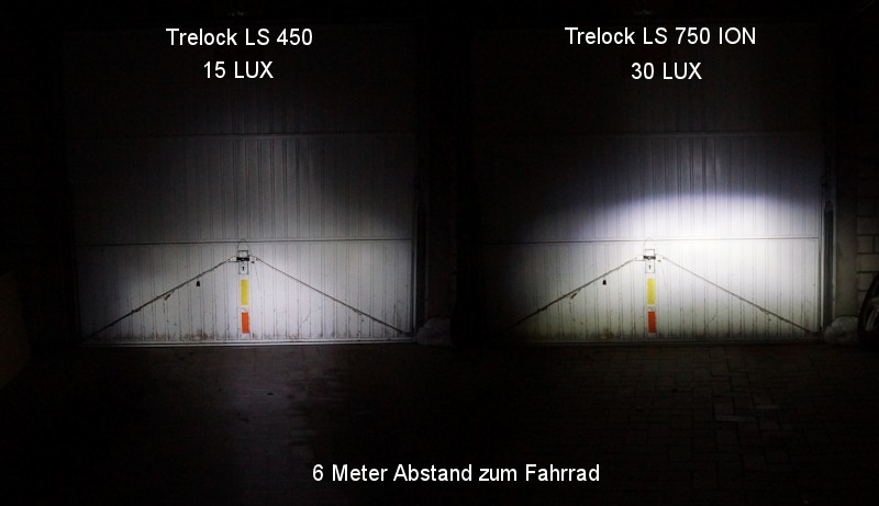 Comparison between a Trelock LS 450 and LS 750 Trelock ION