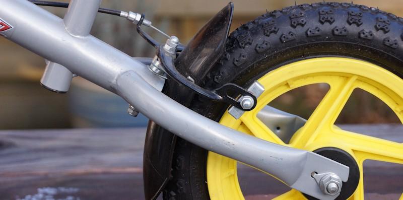 Bremse am Laufrad hinten