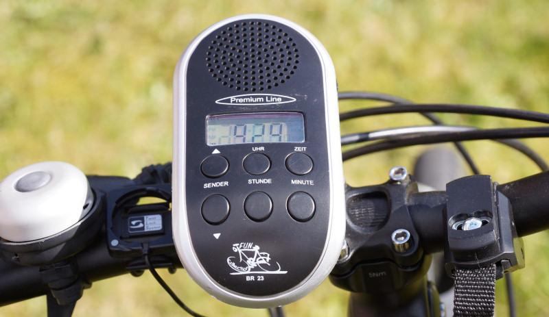 fahrradradio am lenker