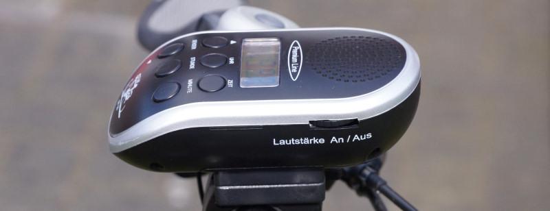 Fahrradradio Test - Lautstärkeregelung