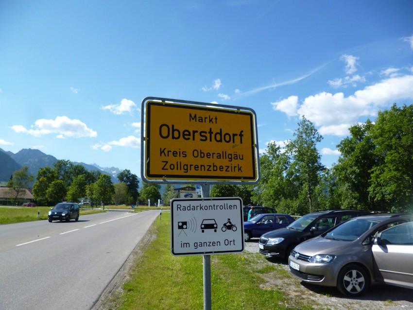 Ortsschild Oberstdorf