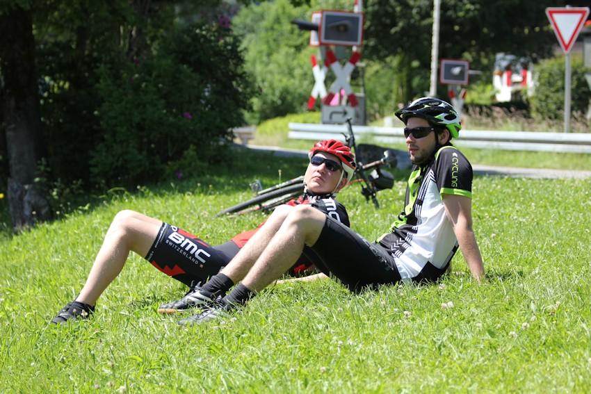 Soeren und Carsten bei der Pause am Iller