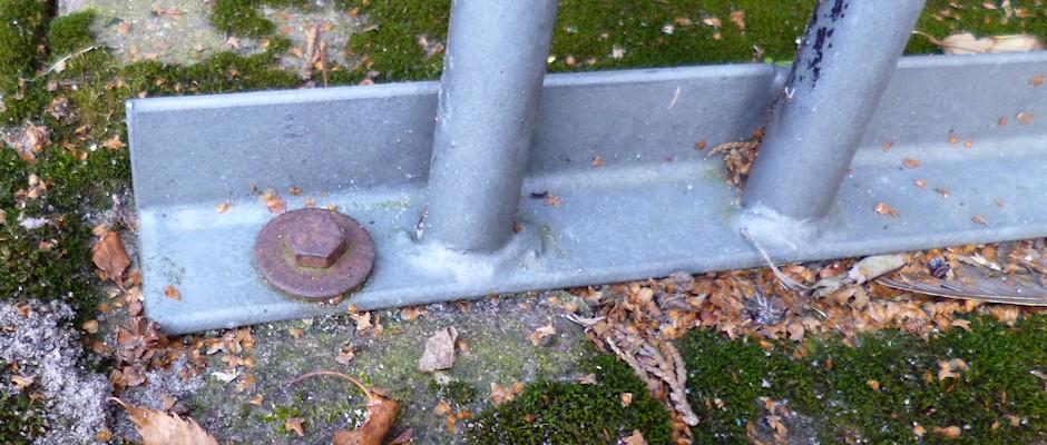 Bodenhalterung Fahrradstaender Schraube