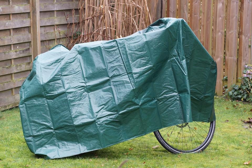 Fahrradgarage - Fahrrad abgedeckt