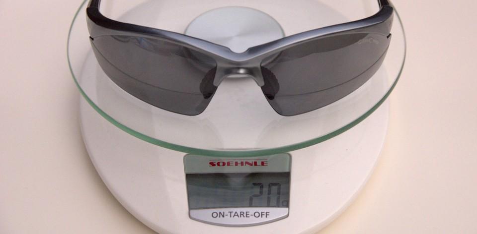 Radbrille auf Waage