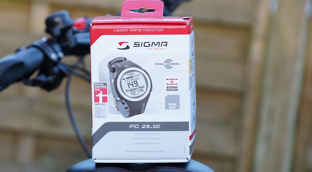 Sigma PC 25.10 heart rate monitor with chest strap