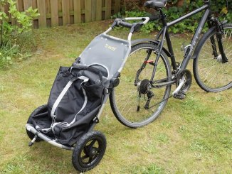 Burley Travoy Test - Transport Trolley am Fahrrad