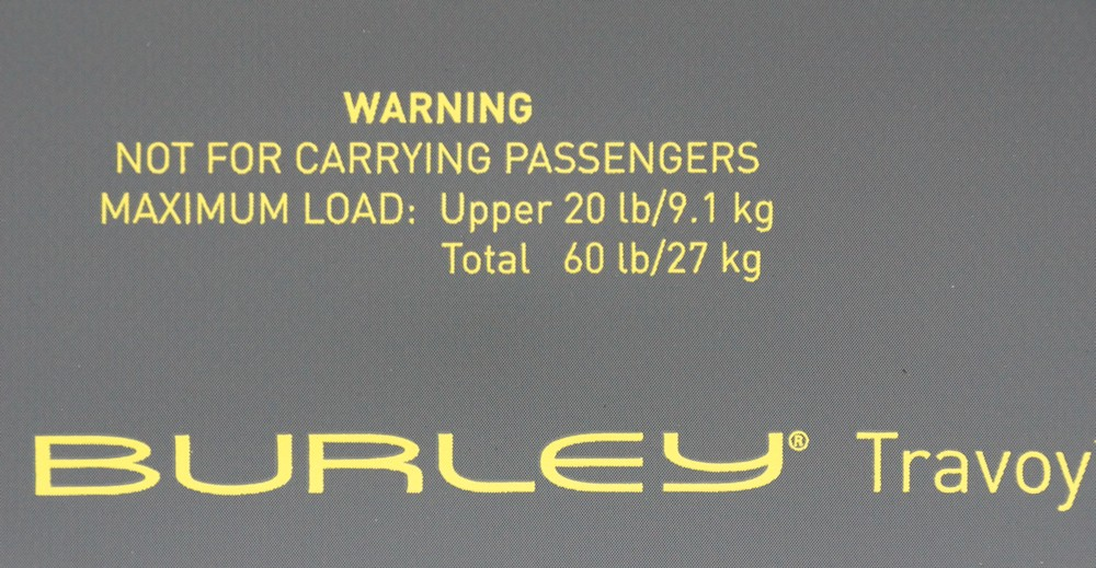 Warnings for transporting people and the maximum weight
