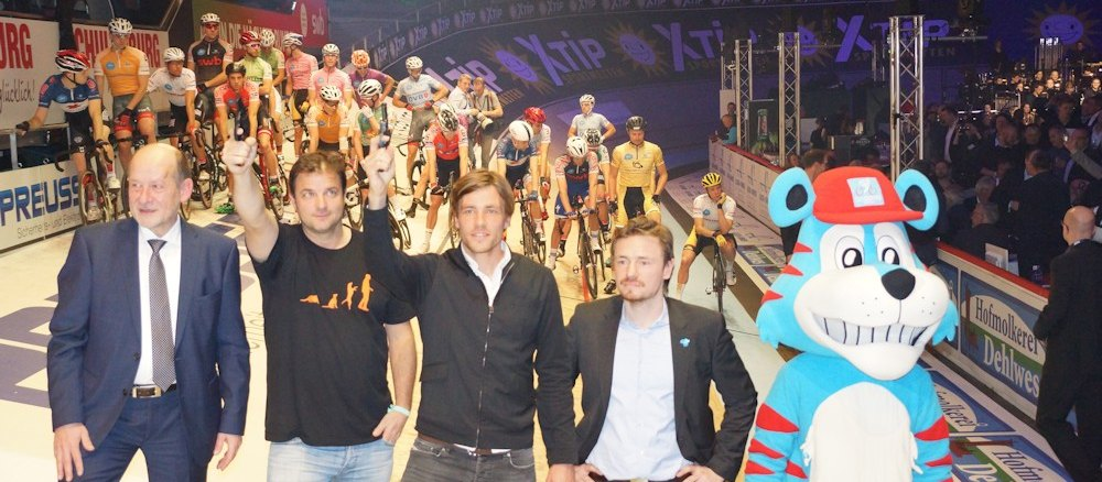 Sixdays Startschuss Clemens Fritz Martin Ruetter