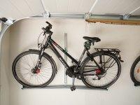 Fahrrad Wandhalterung mit Fahrrad