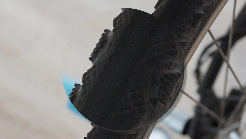 Abnutzung vom Fahrradmantel
