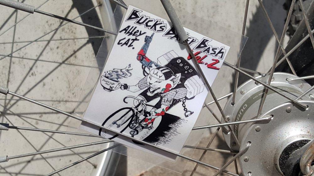 Alleycat Ralley / Rennen Teilnehmerkarte