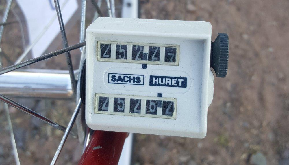 Mechanischer Kilometerzähler