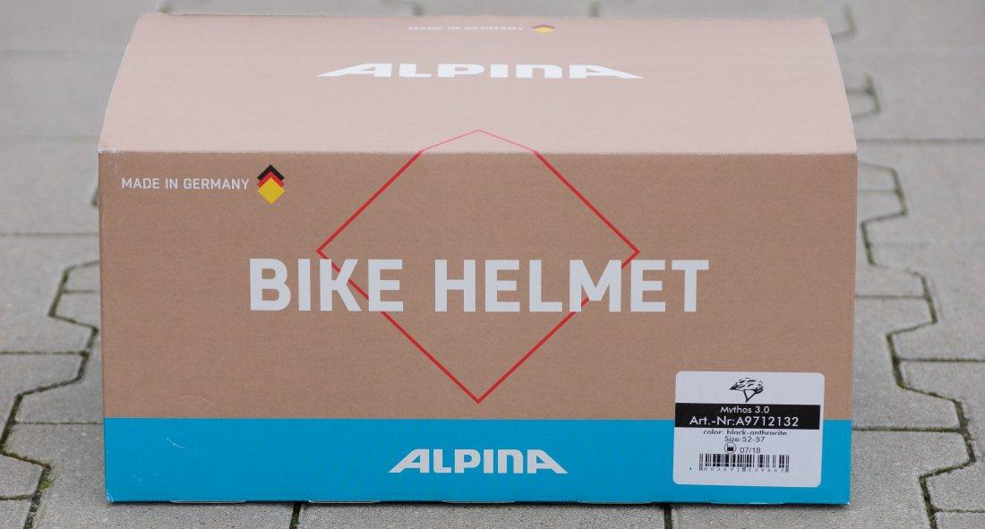 Karton Fahrradhelm Alpina Mythos