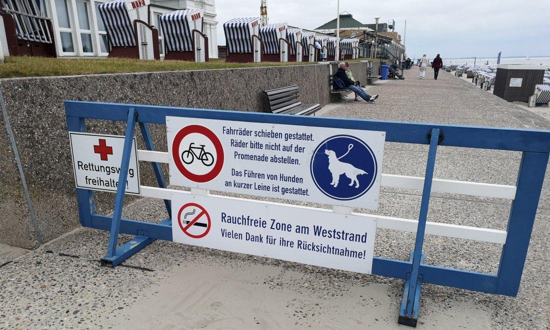 schild norderney promenade radfahren nicht erlaubt