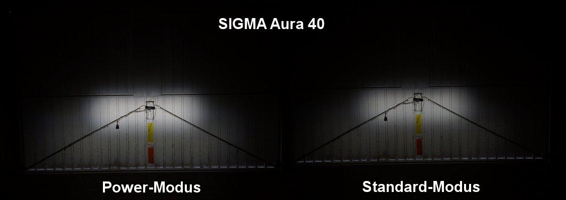 Ausleuchtung der Sigma Aura 40