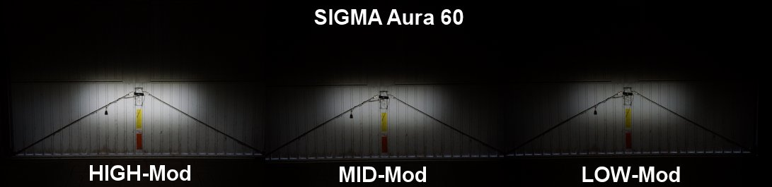 Ausleuchtung der Sigma Aura 60