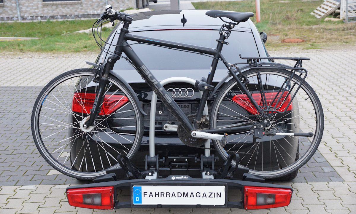 westfalia bikelander premium fahrradträger beladen