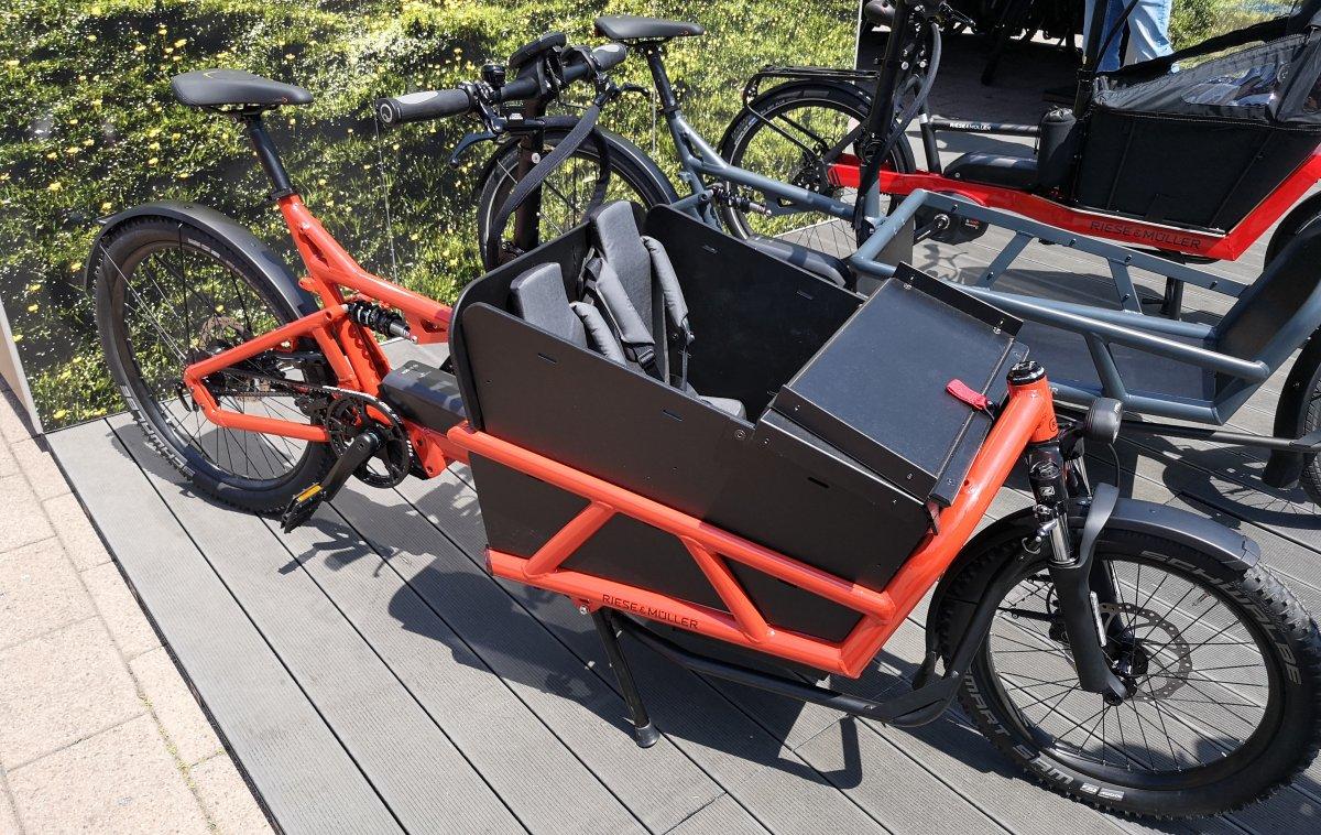 Lastenfahrrad von Riese und Müller mit E-Bike Antrieb