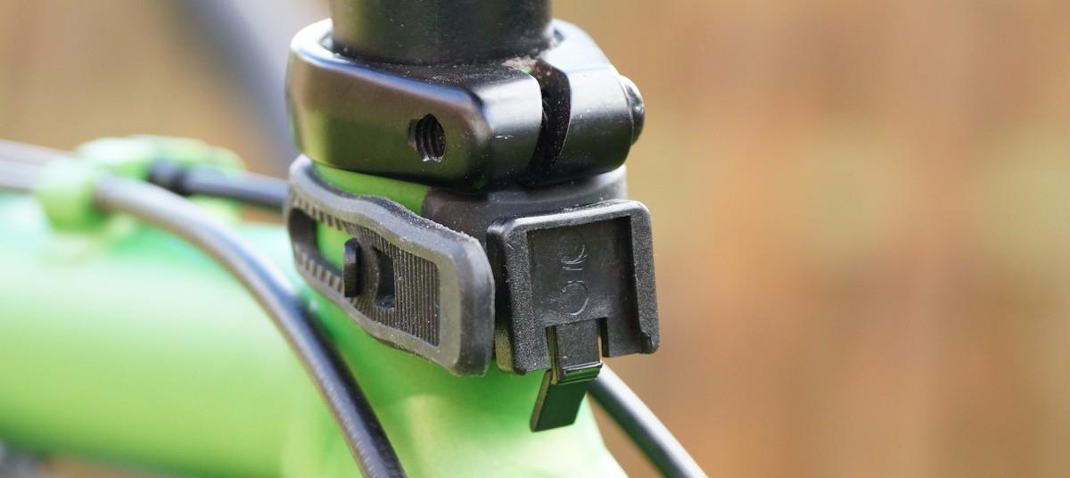 Rücklichthalterung ohne Rücklicht am Fahrrad