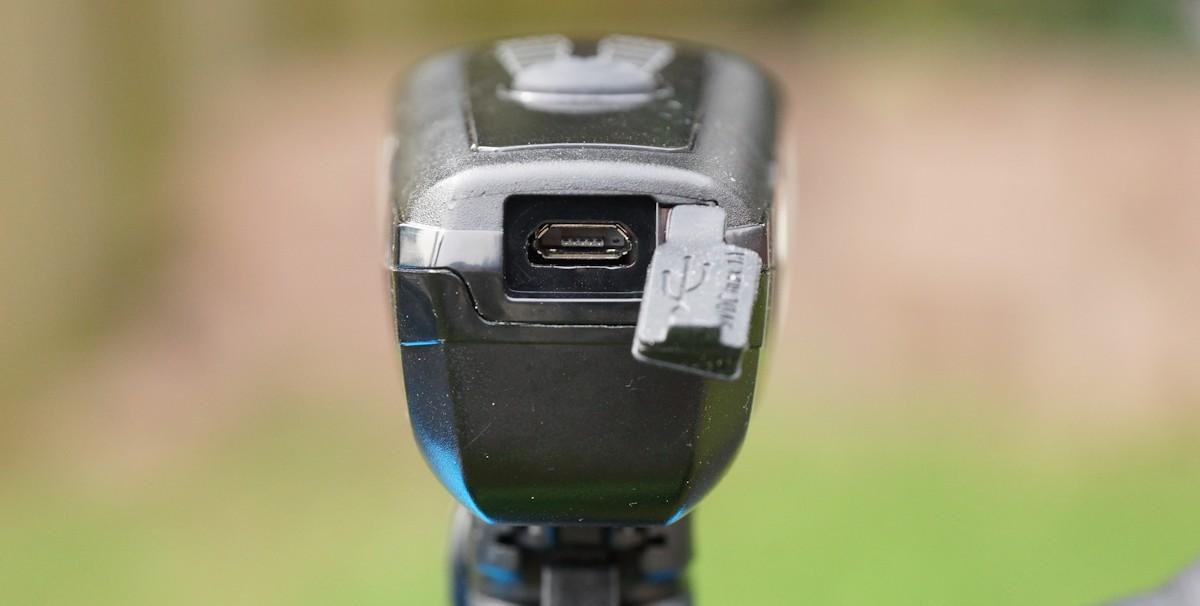 Ladeanschluss Velmia Fahrradlampe mit USB