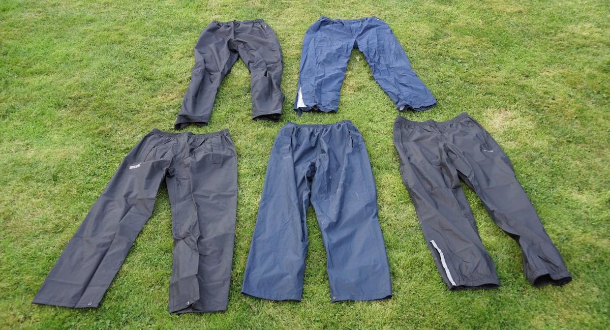 Fahrrad Regenhose Test - Verschiedene Regenhosen