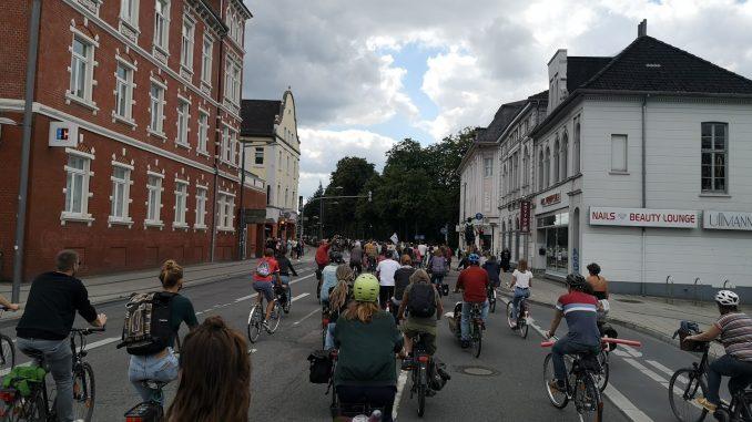 Fahrraddemo in Oldenburg