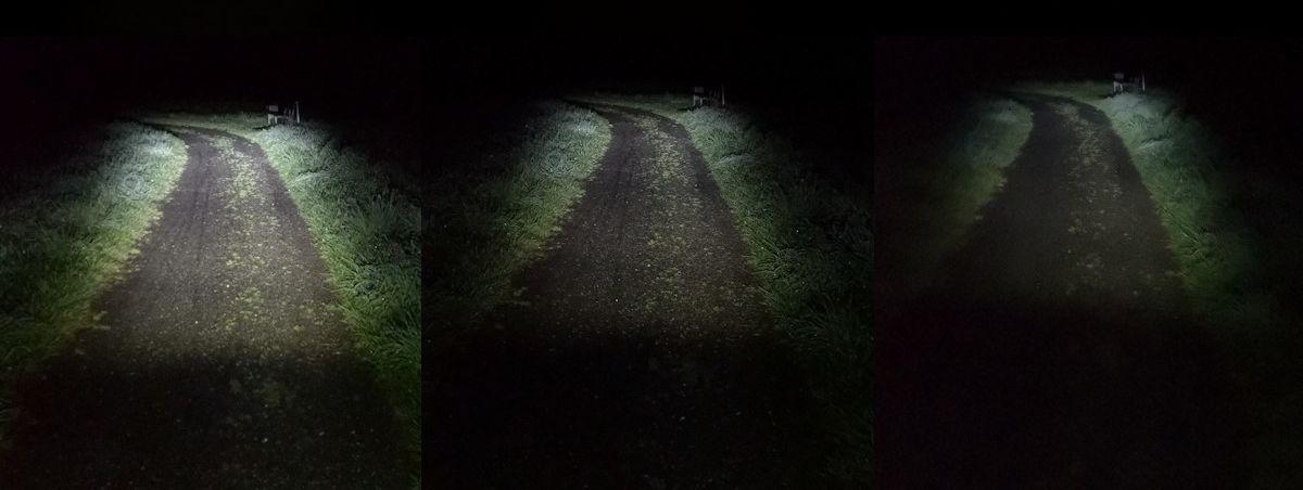 Fahrradlampen Ausleuchtung - Dunkler Weg