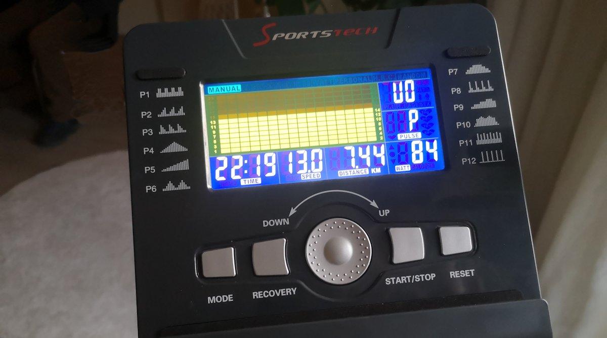 Ergometer mit Computer und Display