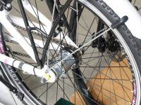 Fahrradnabe an Kinderfahrrad gelockert