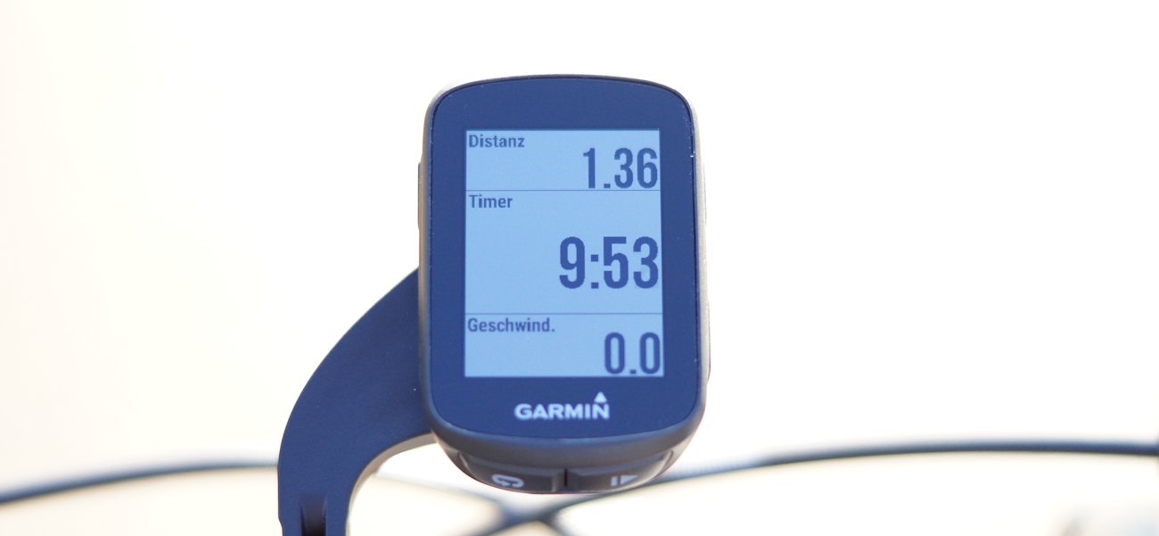 Garmin Edge 130 Display bei voller Sonneneinstrahlung