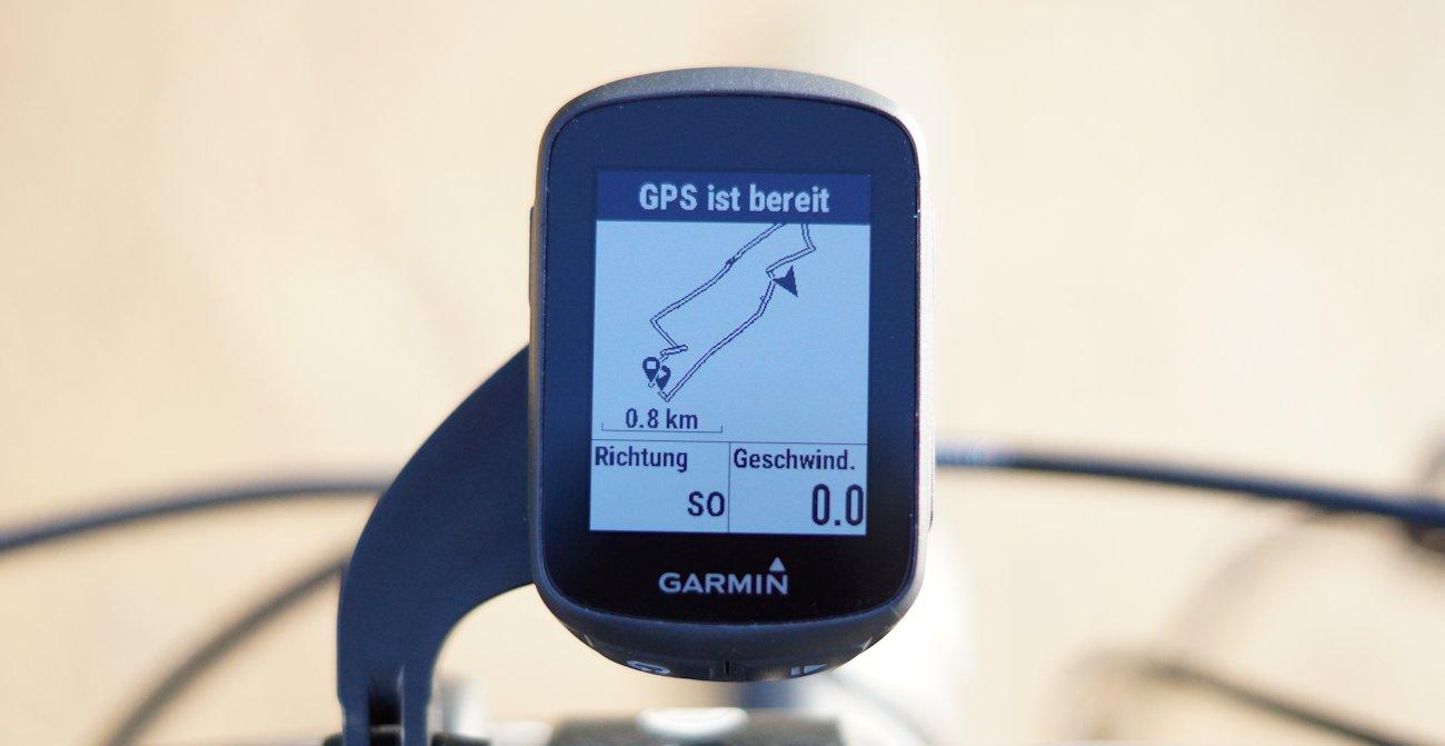 Strecke und Navigation Garmin Edge 130 Test