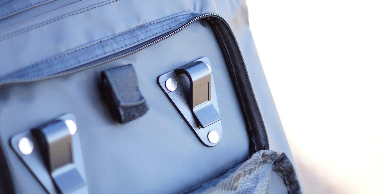 Gepäckträger Haken an Valkental Fahrradtasche