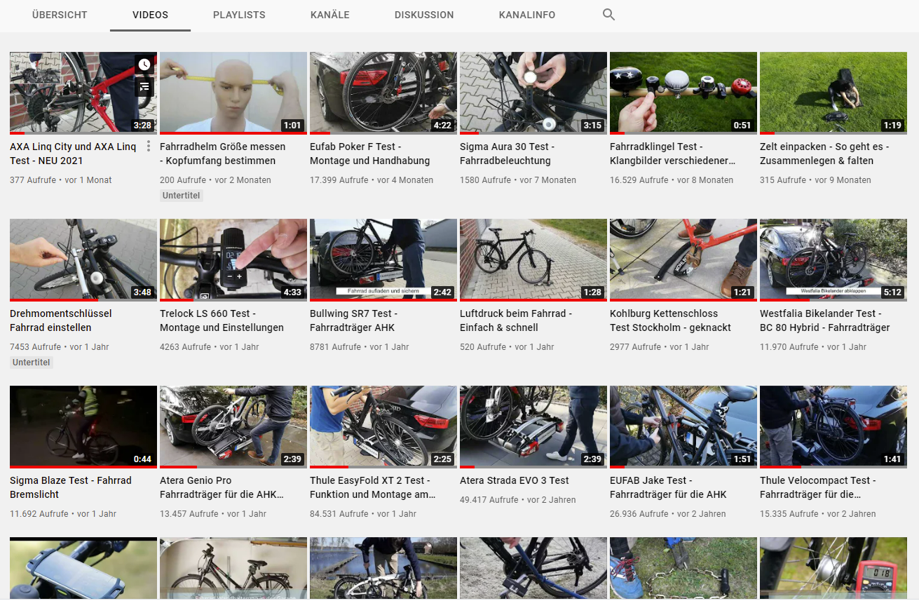 fahrradmagazin auf youtube