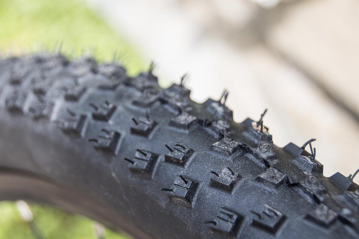 Profil an einem Mountainbikereifen