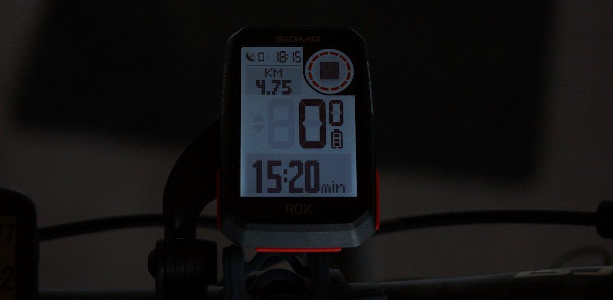 Sigma Sports Rox 4.0. Display Beleuchtung
